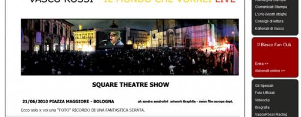 Square Theatre Show – Vasco Rossi – Il mondo che vorrei live : Un successo