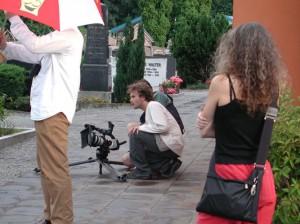 Durante le riprese del film DIE SKRUPELLOSEN