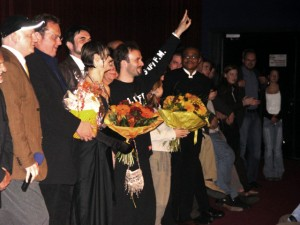 Swan at Die Skrupellosen premiere