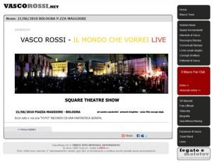 Square Theatre Show : Vasco Rossi. Il mondo che vorrei live